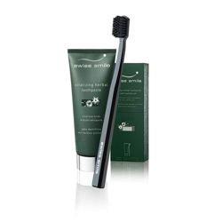 SWISS SMILE energetyzująca pasta ziołowa i delikatnie miękka szczoteczka Herbal Toothpaste & Toothbrushes Set