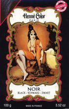 NJD Cosmetics Natural Colour Cream  Henna powder Noire 100g